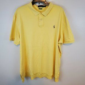 Polo Ralph Lauren Yellow Pima Soft Touch Polo